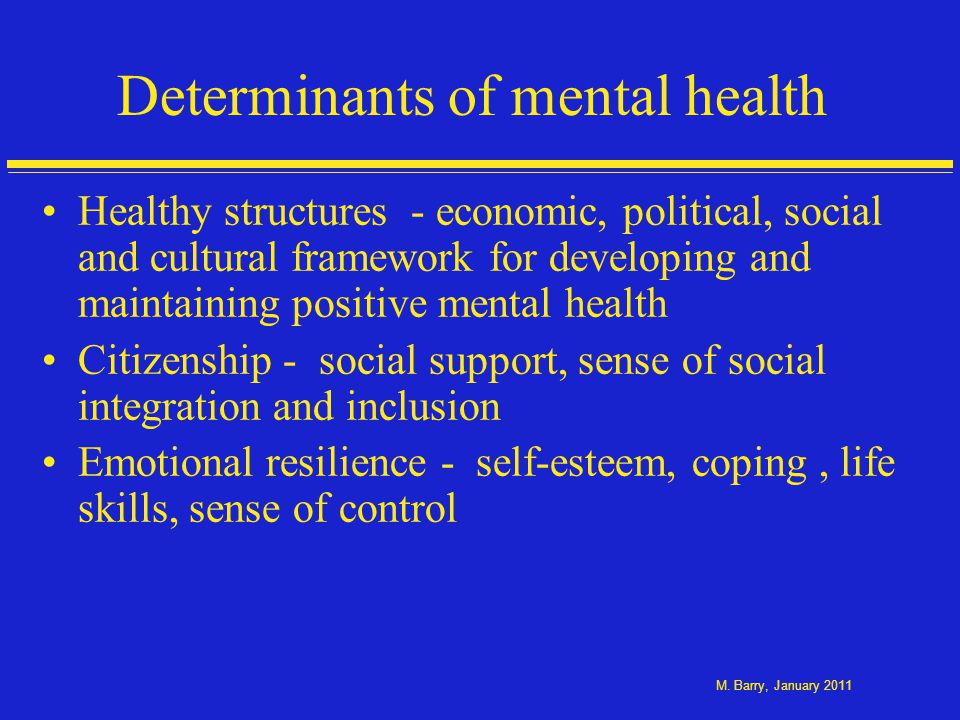 Concepts of positive mental health