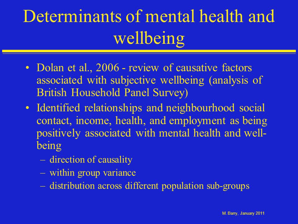 Psychological Distress by Health Behaviour