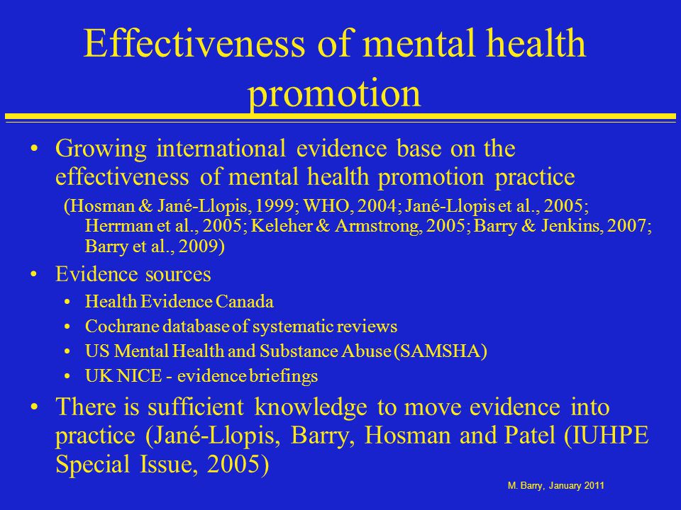 Addressing the determinants of mental health