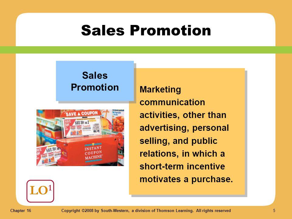 Sales Promotion LO1 Sales Promotion