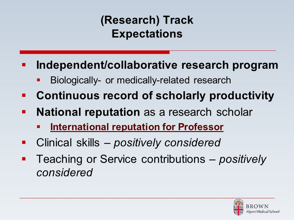 (Research) Track Expectations