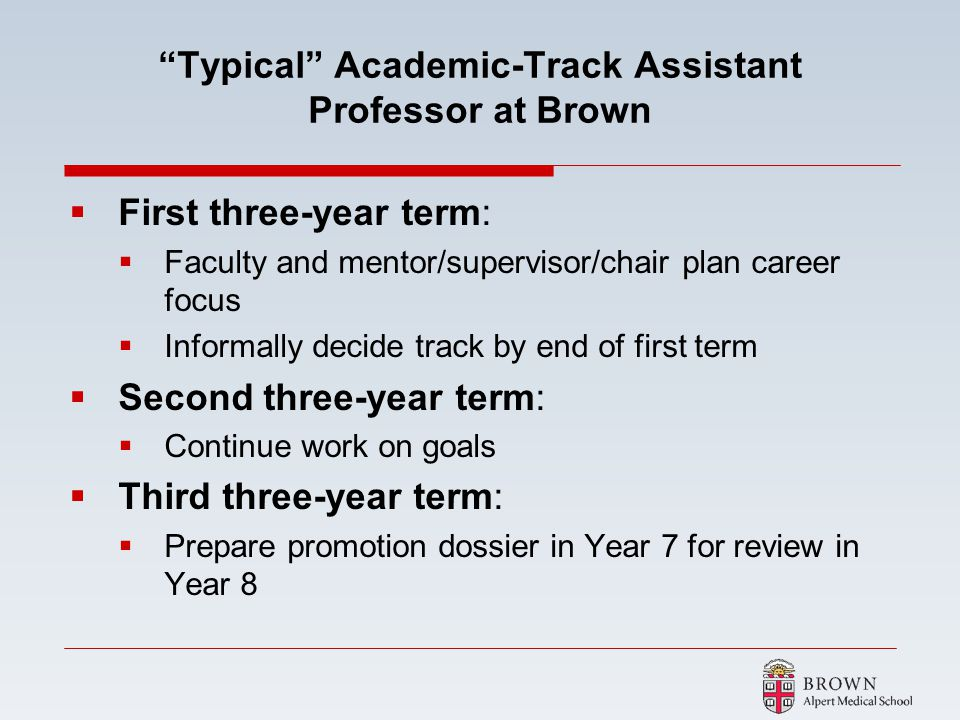 Typical Academic-Track Assistant Professor at Brown