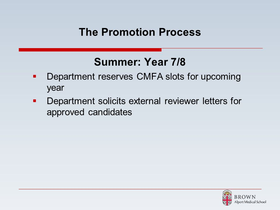 The Promotion Process Summer: Year 7/8