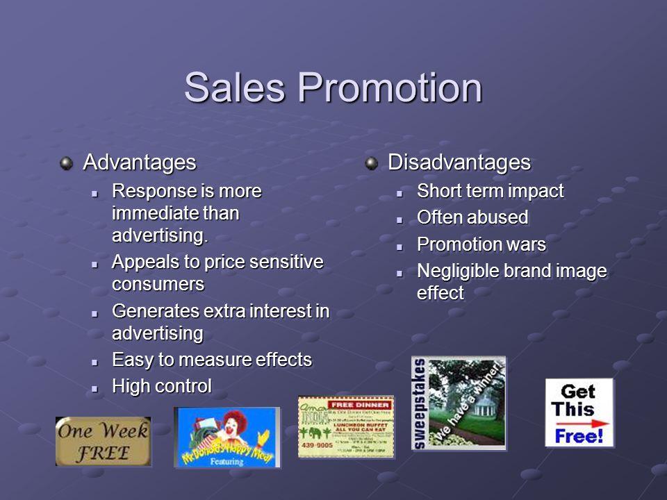 Sales Promotion Advantages Disadvantages