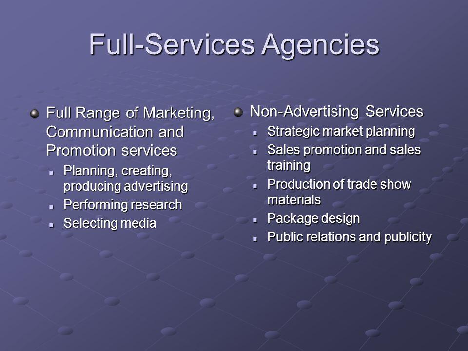 Full-Services Agencies