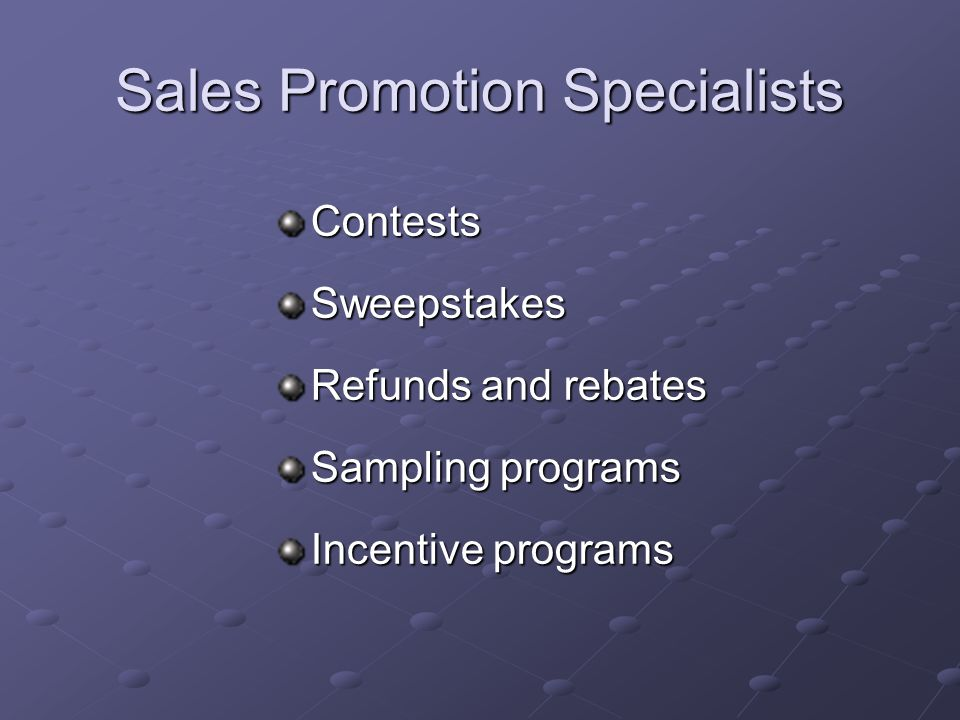 Sales Promotion Specialists