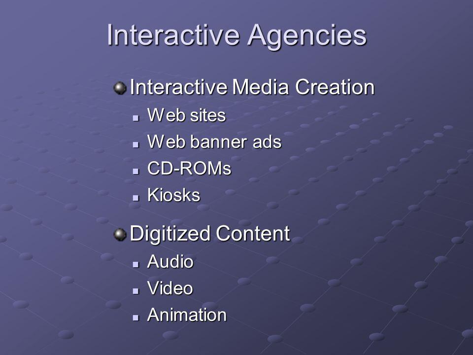 Interactive Agencies Interactive Media Creation Digitized Content