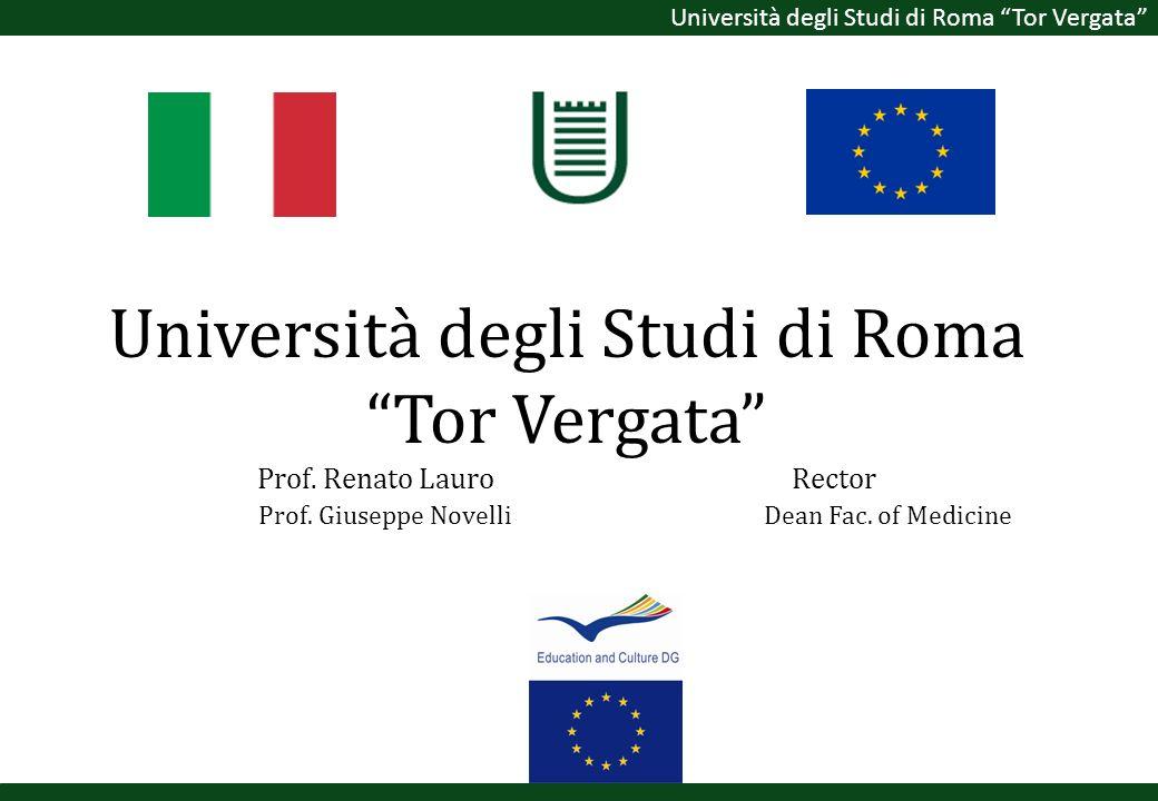 Università degli Studi di Roma Tor Vergata Prof. Renato Lauro