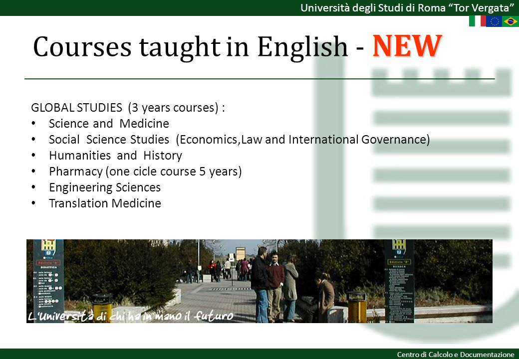 Courses taught in English - NEW