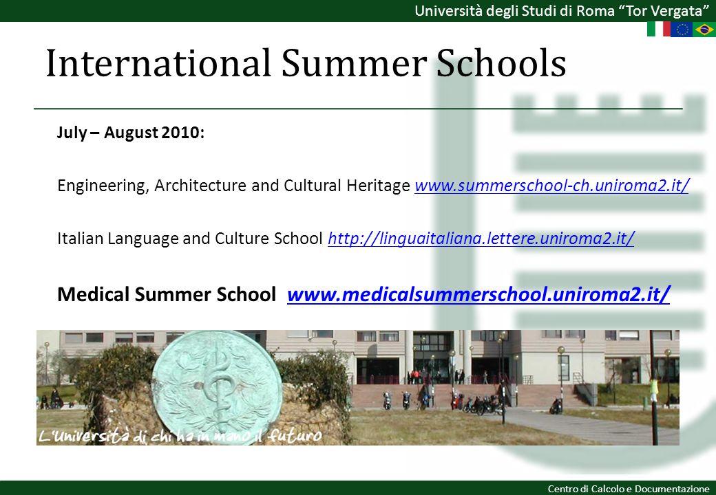 International Summer Schools