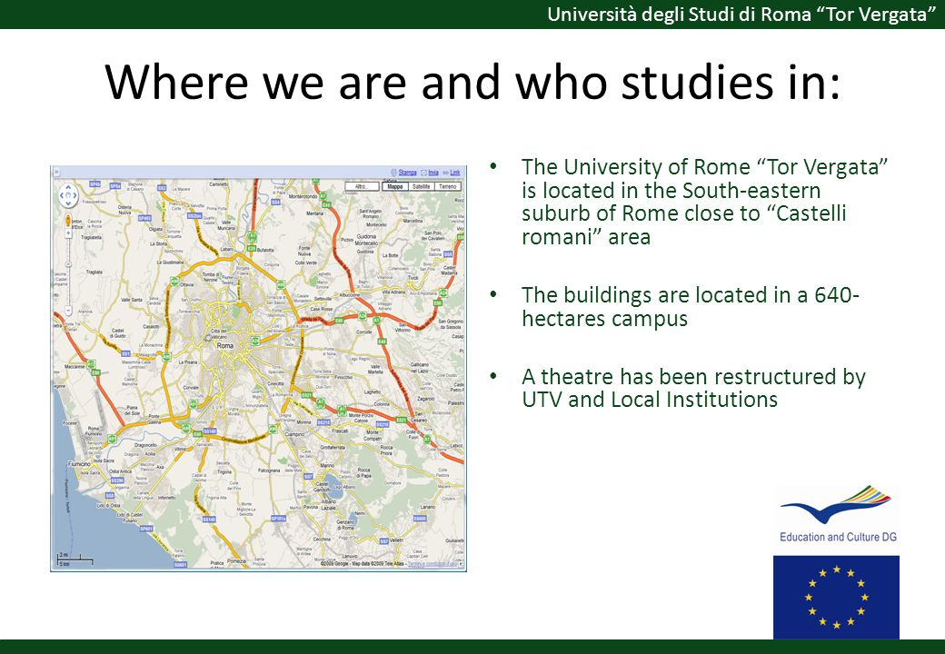 Where we are and who studies in:
