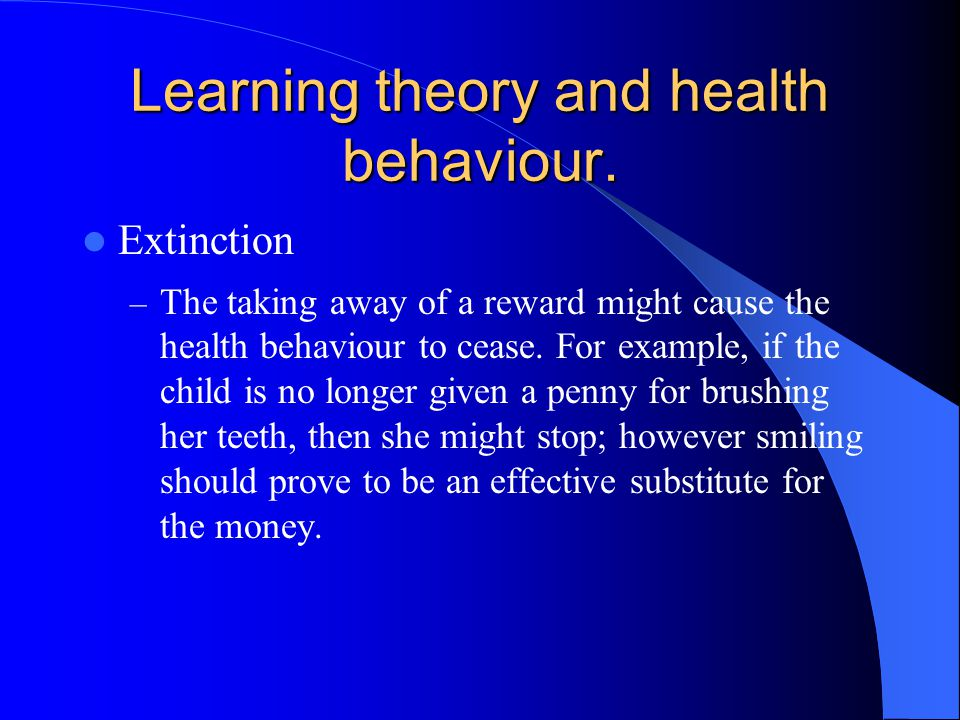 Learning theory and health behaviour.