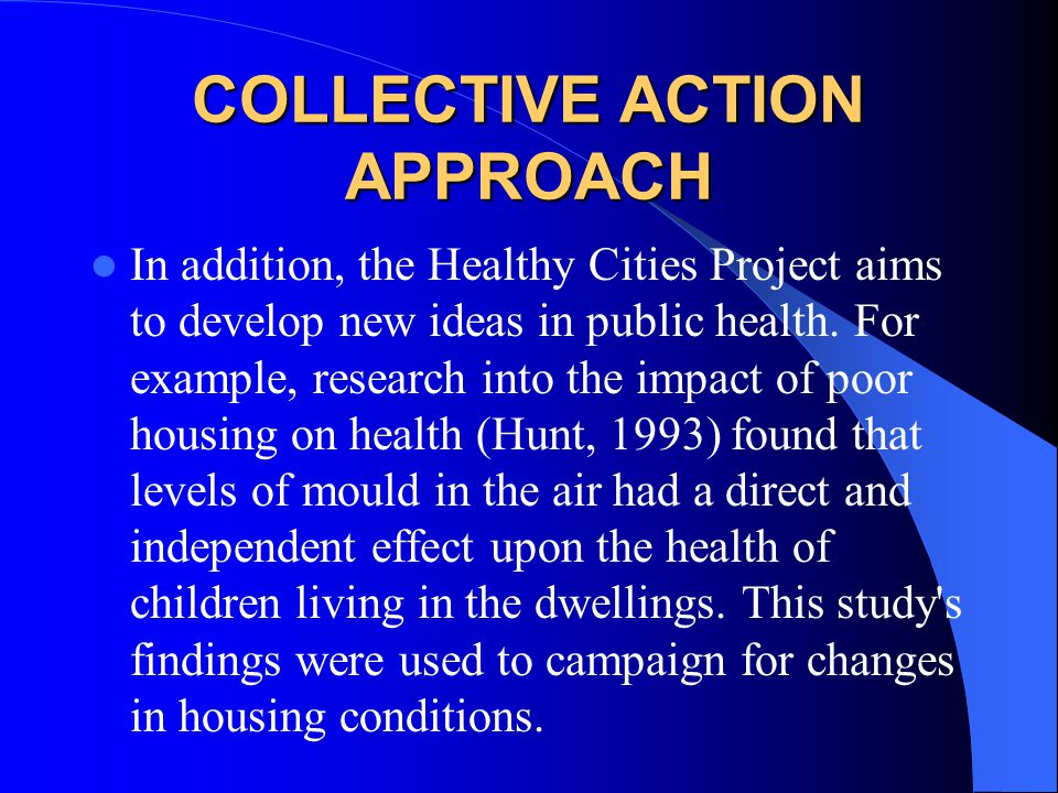 COLLECTIVE ACTION APPROACH