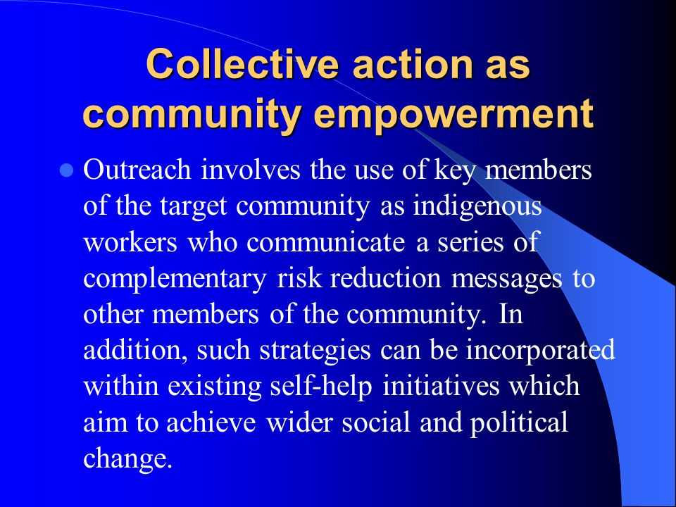 Collective action as community empowerment
