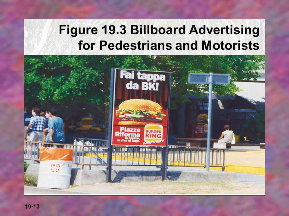 Figure 19.3 Billboard Advertising for Pedestrians and Motorists