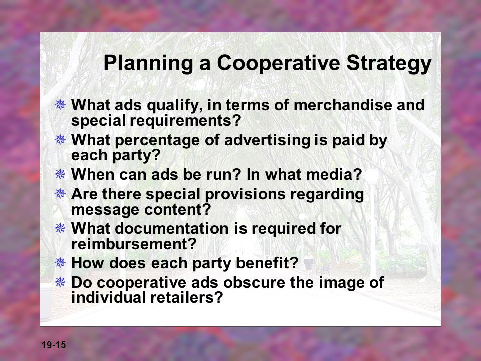 Planning a Cooperative Strategy