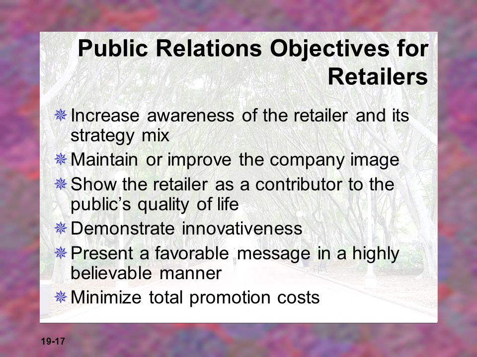 Public Relations Objectives for Retailers