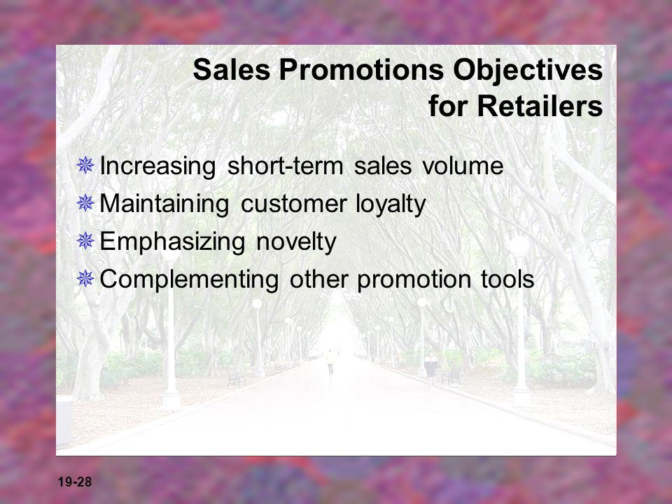 Sales Promotions Objectives for Retailers