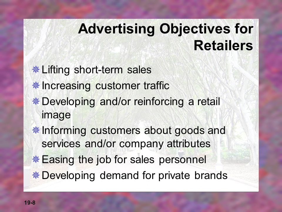 Advertising Objectives for Retailers