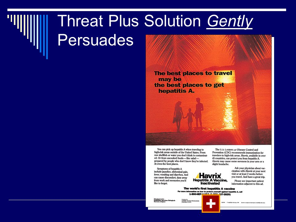 Threat Plus Solution Gently Persuades
