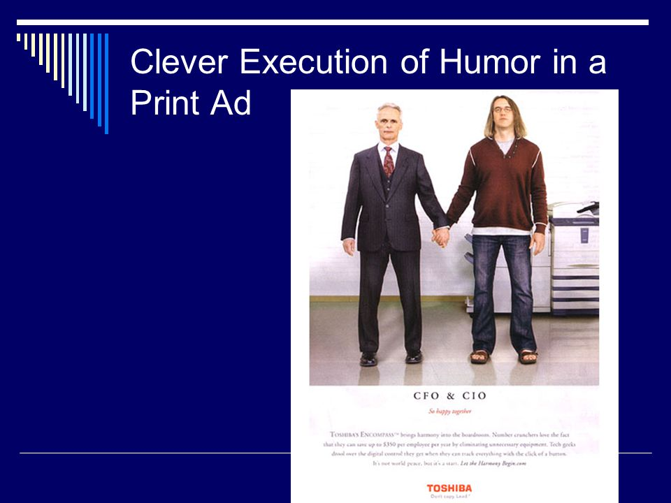 Clever Execution of Humor in a Print Ad