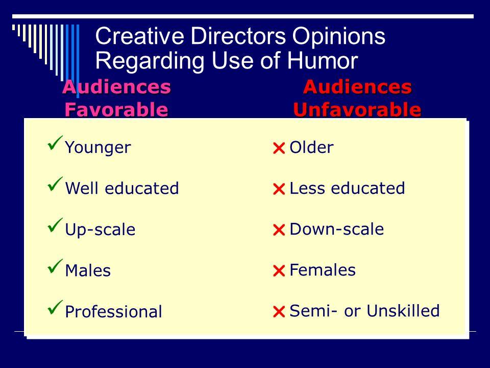 Creative Directors Opinions Regarding Use of Humor
