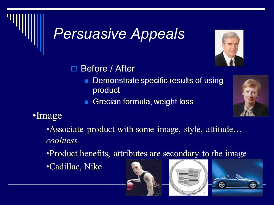 Persuasive Appeals Image Before / After