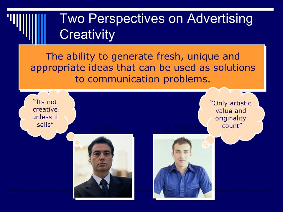 Two Perspectives on Advertising Creativity