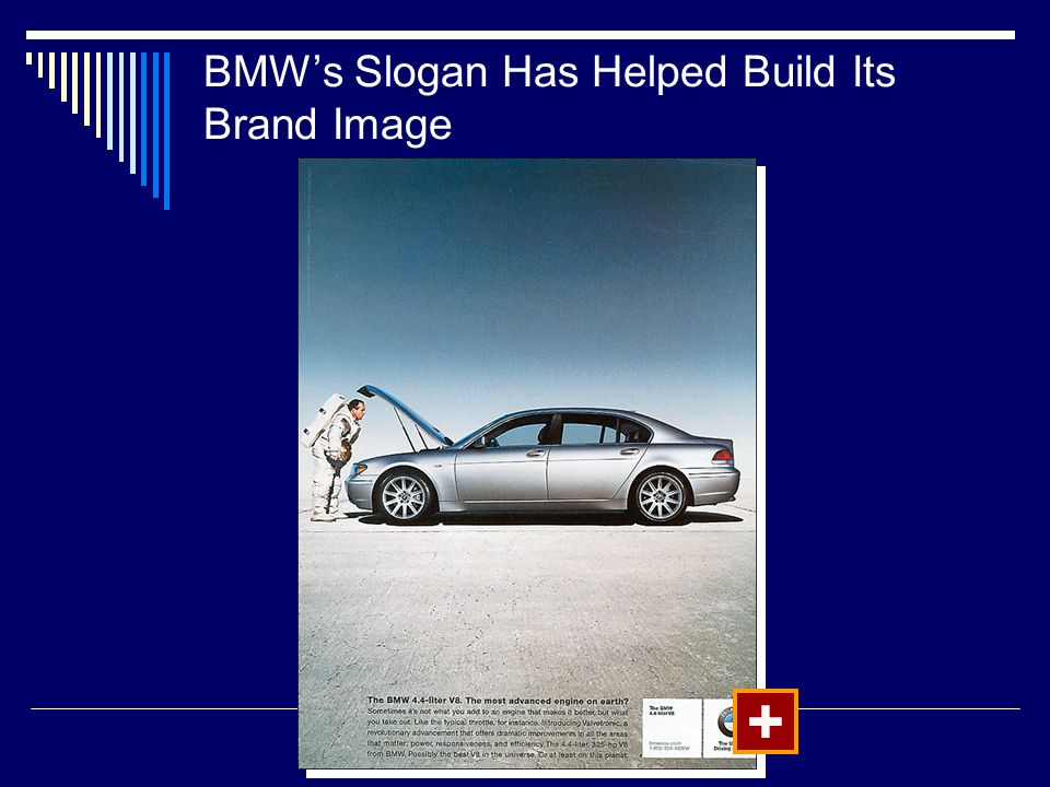 BMW's Slogan Has Helped Build Its Brand Image