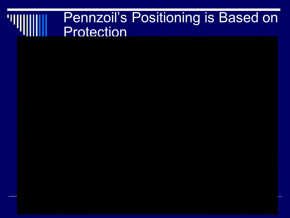 Pennzoil's Positioning is Based on Protection