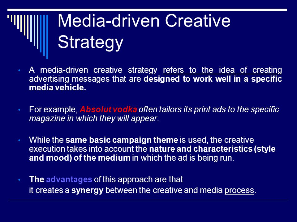 Media-driven Creative Strategy