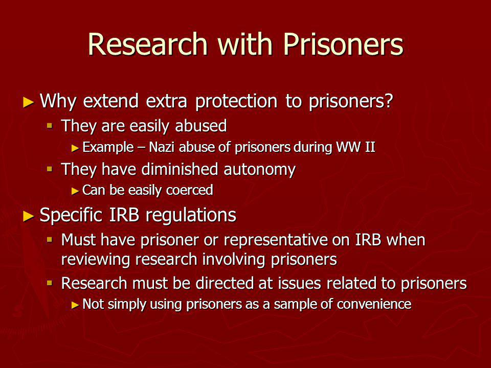 Research with Prisoners