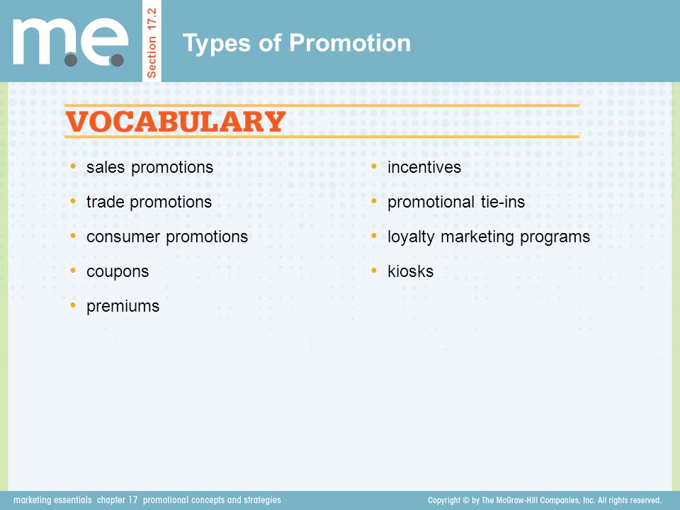 Types of Promotion sales promotions trade promotions