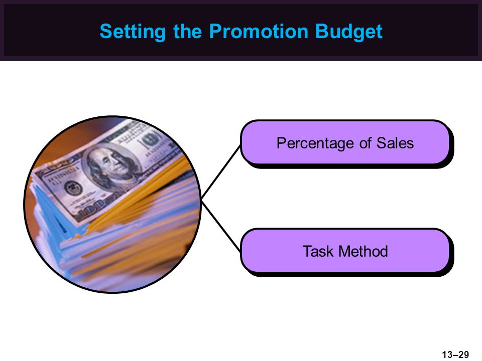 Setting the Promotion Budget