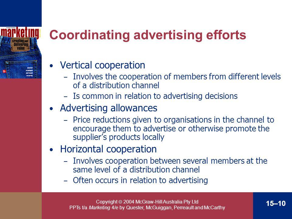 Coordinating advertising efforts