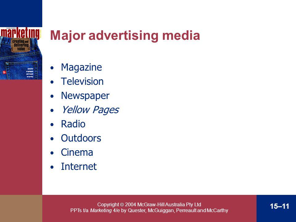 Major advertising media