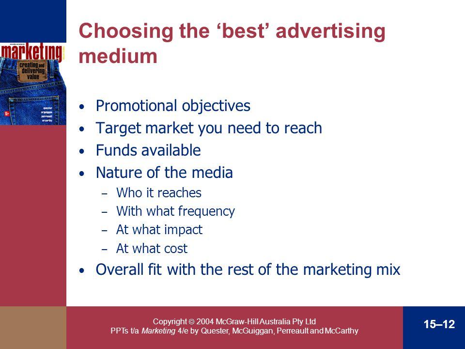 Choosing the 'best' advertising medium