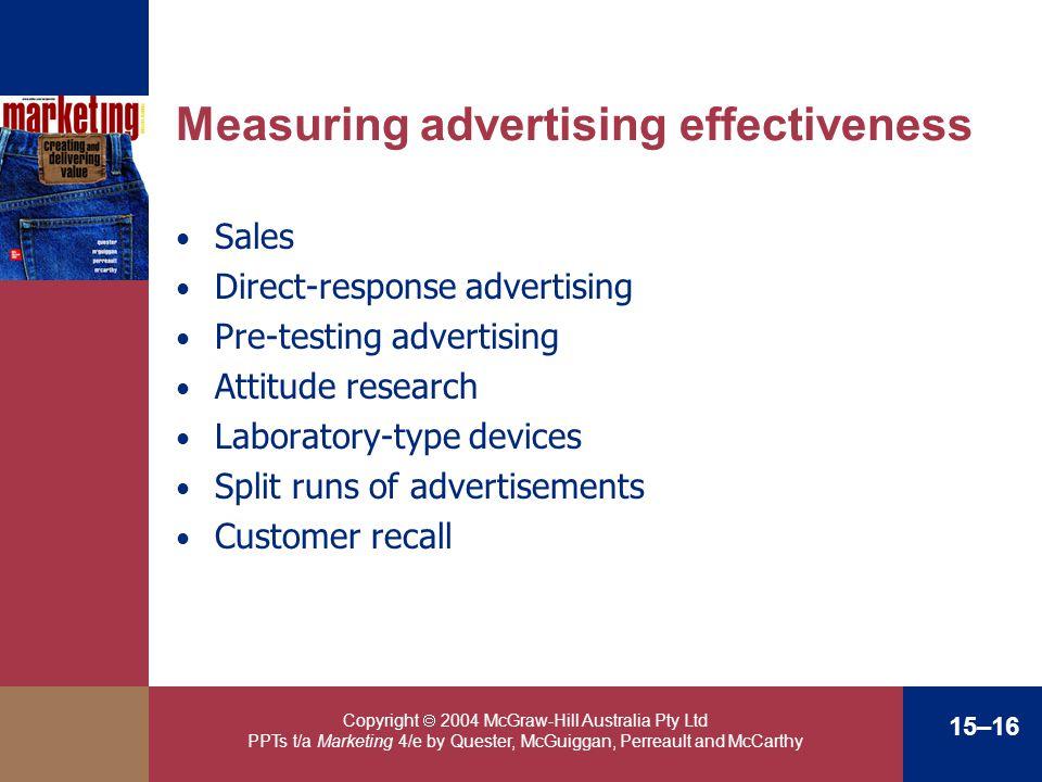 Measuring advertising effectiveness