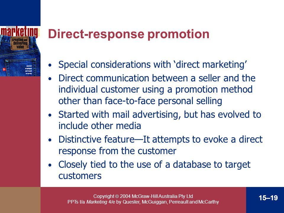Direct-response promotion