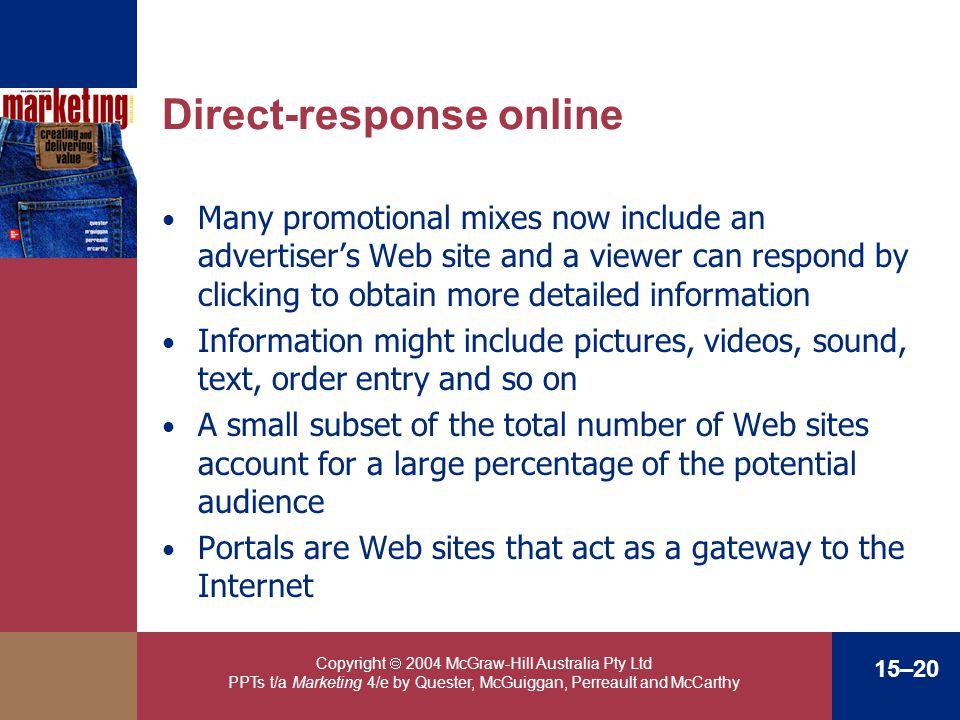 Direct-response online