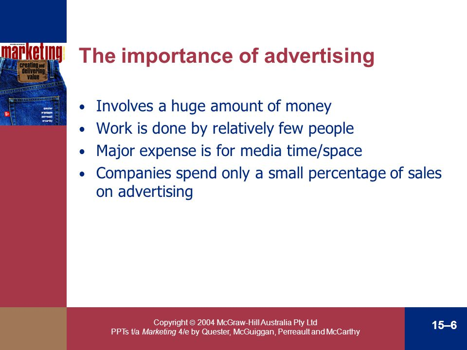 The importance of advertising