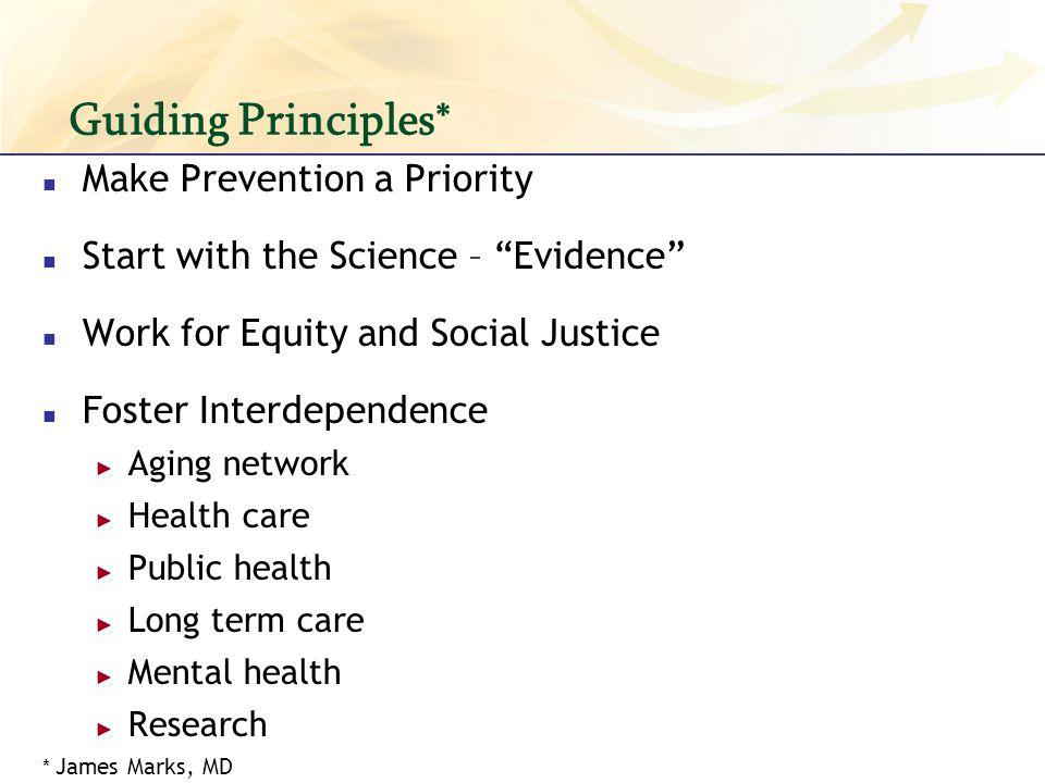 Guiding Principles* Make Prevention a Priority
