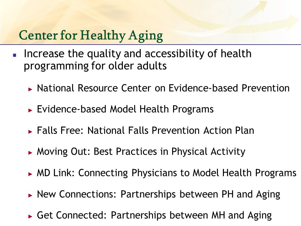Center for Healthy Aging