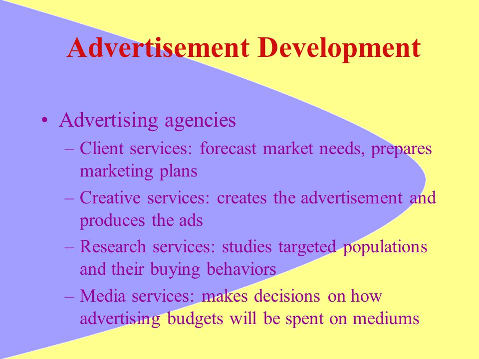 Advertisement Development