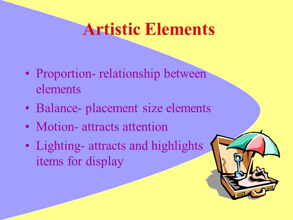 Artistic Elements Proportion- relationship between elements