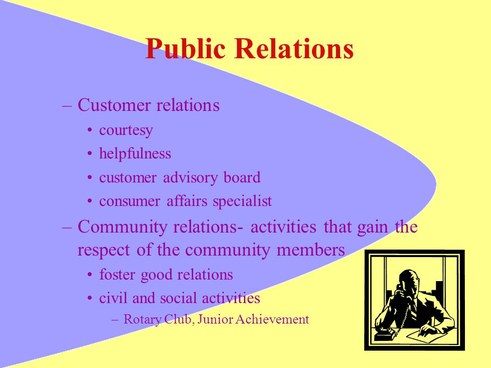 Public Relations Customer relations