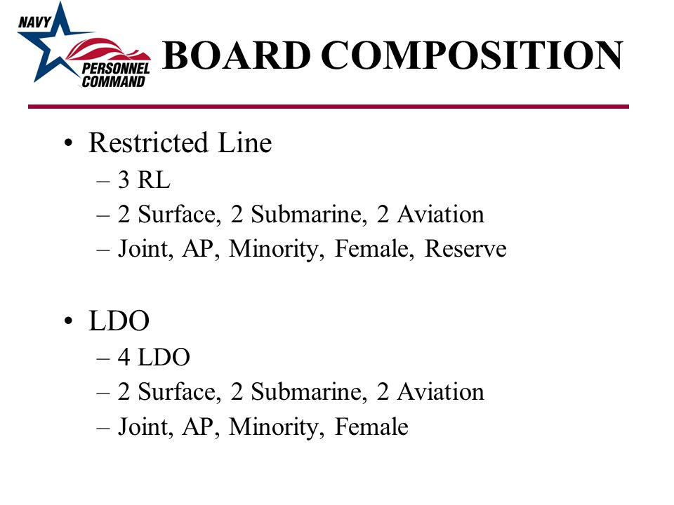 BOARD COMPOSITION Restricted Line LDO 3 RL