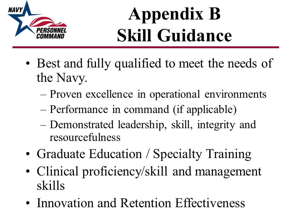 Appendix B Skill Guidance
