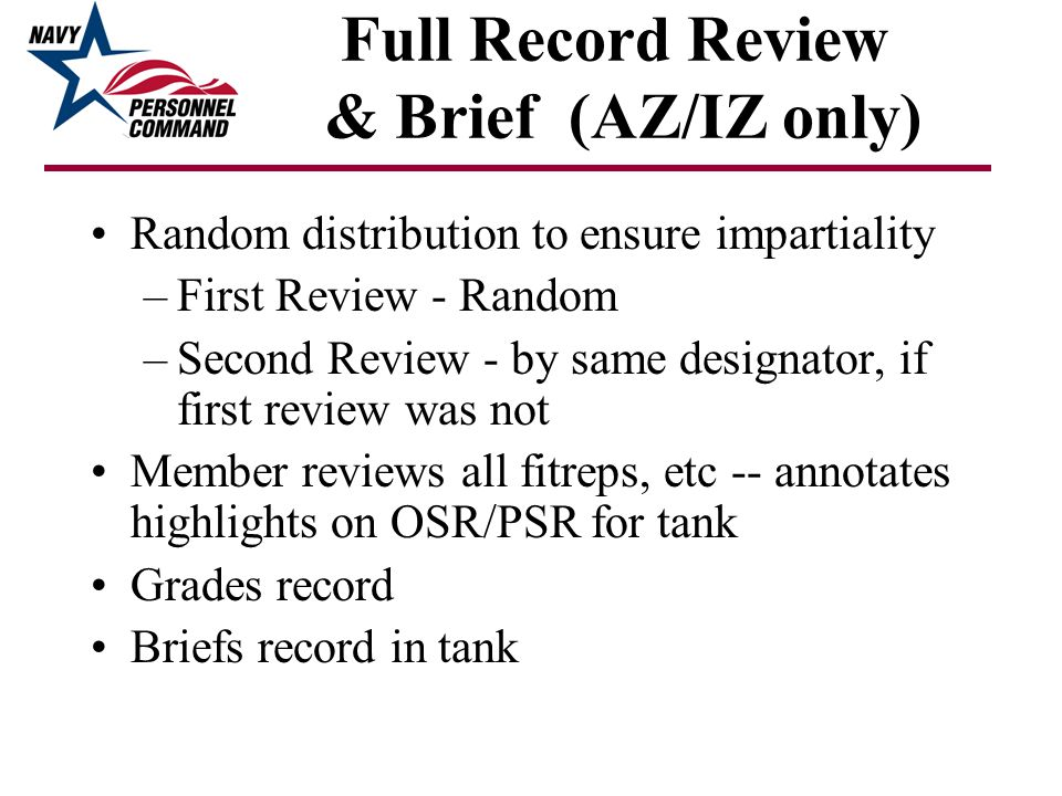 Full Record Review & Brief (AZ/IZ only)