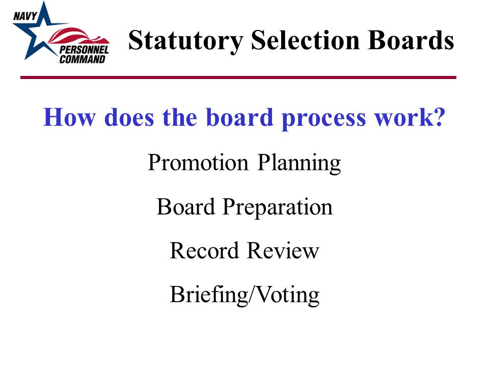 Statutory Selection Boards